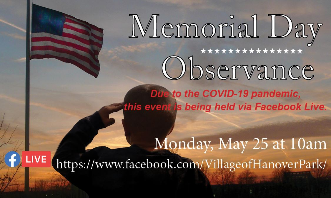 Memorial Day Observance HiLighter Graphic 2020