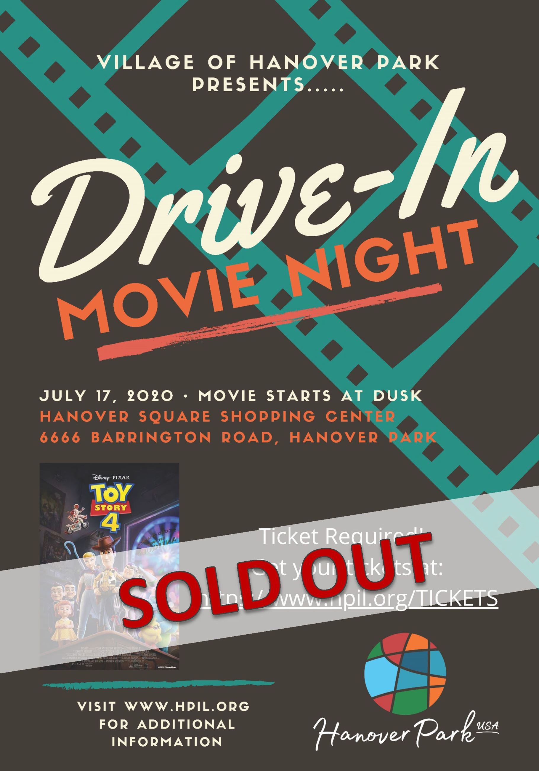 Drive In Movie - Sold Out Flyer
